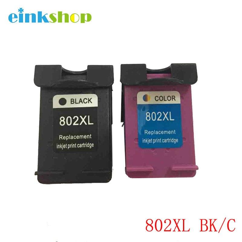 einkshop 802 802xl Ink Cartridge For HP 802XL For hp Deskjet 1000 1010 1050 1510 1511 2000 2050 3050 3512 4500