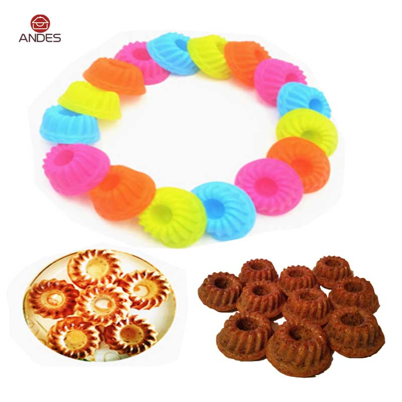 Pumpkin shape Cake Cup 12Pieces Silicone Cake Bread Pastry Bakeware Mould Christmas Cake Decorating Tools Kitchen image