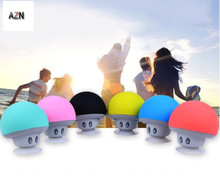 AZN Cartoon Mushroom Wireless Bluetooth speaker waterproof sucker mini bluetooth speaker audio outdoor portable Bracket цены