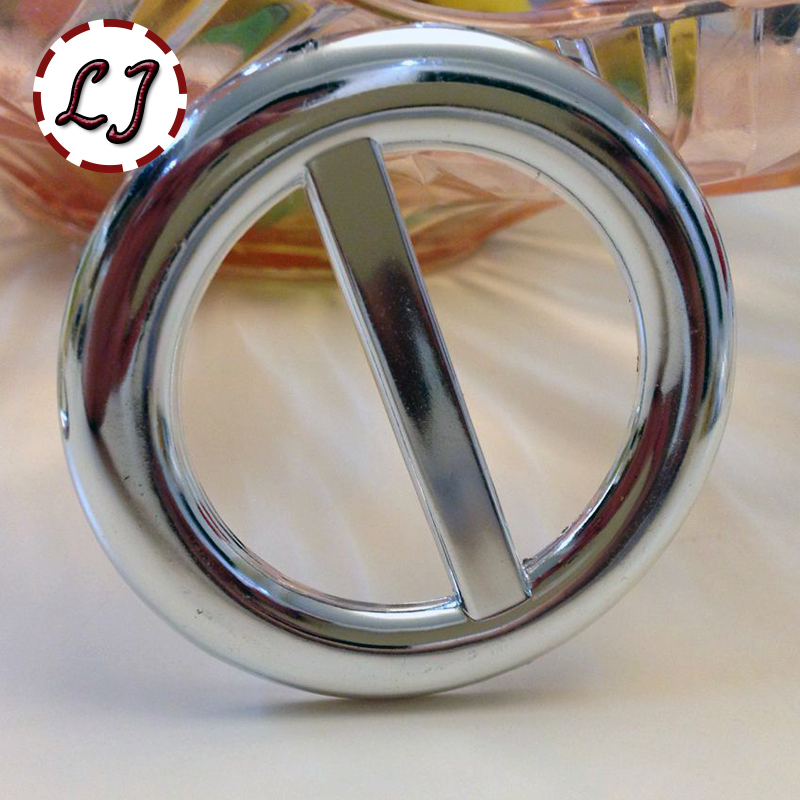 free shipping high quality fashion round ring buckles plastic silver big luggage clothing belt buckle inside 47mm LSL001