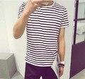 Verão masculino de manga curta T - shirt o-neck camiseta de algodão camisa básica fino top de manga curta roupas dos homens