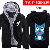 Street Wear FAIRY TAIL Winter Jacket Anime Cosplay Hoodies Winter warm thickening men and women fashion casual Sweatshirts