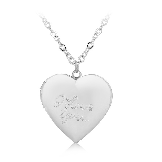 I love you diy love heart secret message locket necklace pendant clear aloadofball Image collections