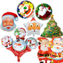 61*44cm Santa Claus Foil Air Balloons Kids Christmas Gifts Classic Toys For Children Boy Girls Party Decoration One Piece NEW