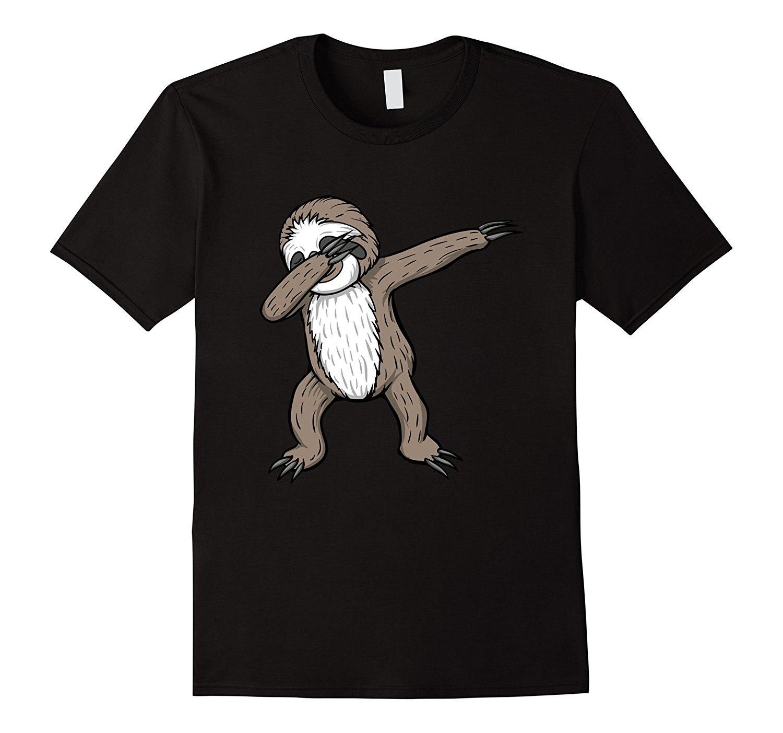Sloth Dabbing Funny Dance Move Dab Gift Tee T Shirt Printed T-Shirt Pure Cotton Men Top Tee Men'S Fashion Black Cotton