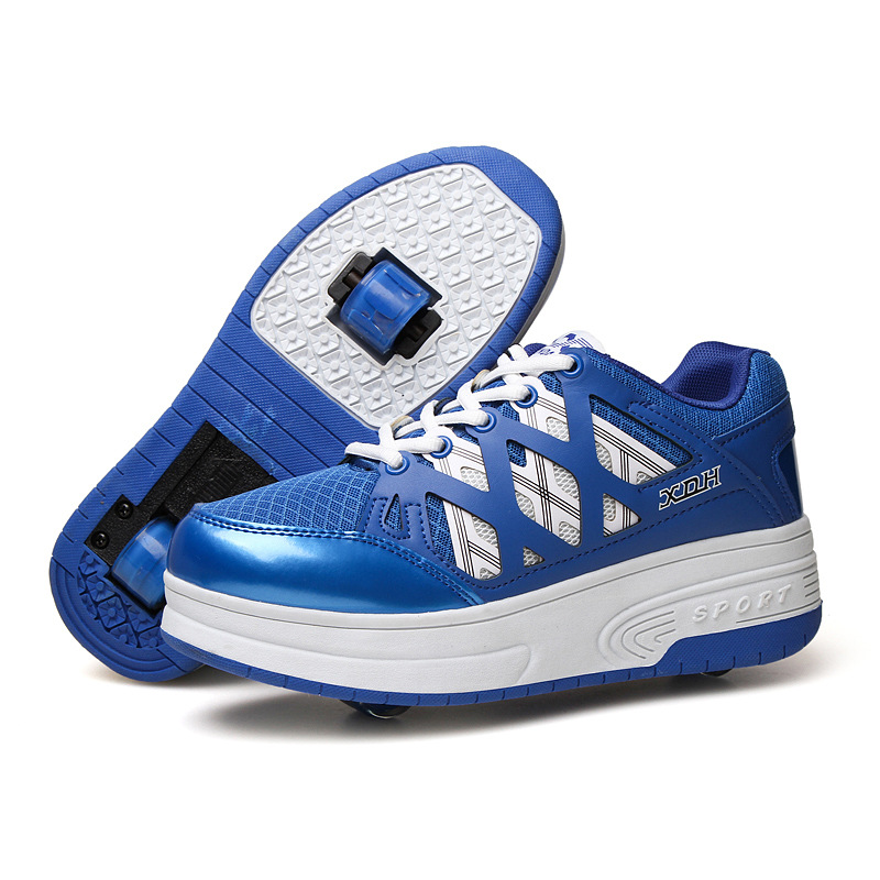 2018 New Boys Girls Heeky Sneakers with Wheels Kids Roller Skate Shoes Children Brand Fashion Wheels Shoes цена 2017