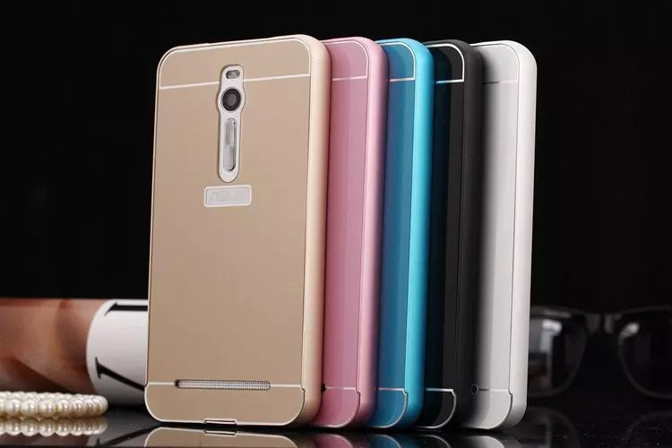 quality design 7d376 534c6 US $8.99 |2 piece case Back Cover Slim Aluminum metal Bumper Sliding Mobile  Phone Bumper For Asus Zenfone 2 ZE551ML ZE550ML on Aliexpress.com | ...