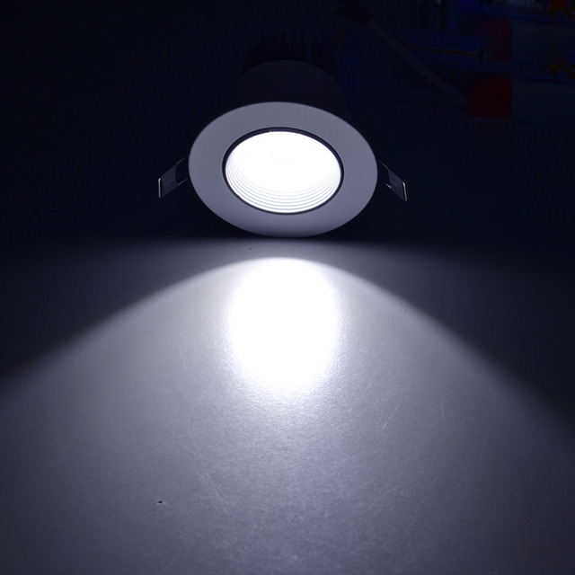 Jiawen LED trois couleurs lumière downlight 5 w 7 w 9 w projecteur intégré plafonnier