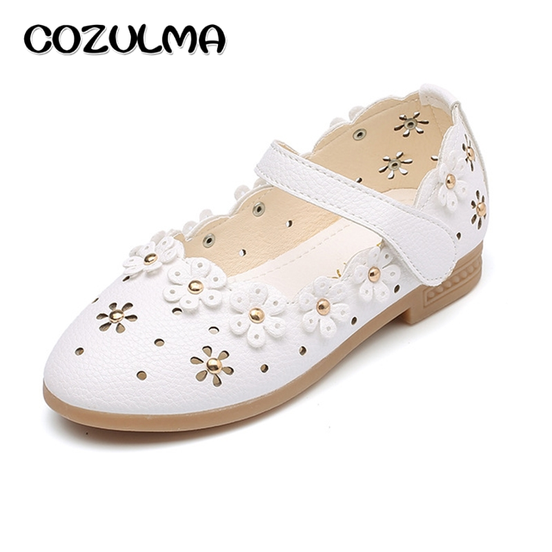 COZULMA Kids Girls Shoes Children Spring Summer PU Leather Shoes Princess Dress Shoes Baby Girls Sneakers Kids Pearl Party Shoes ...