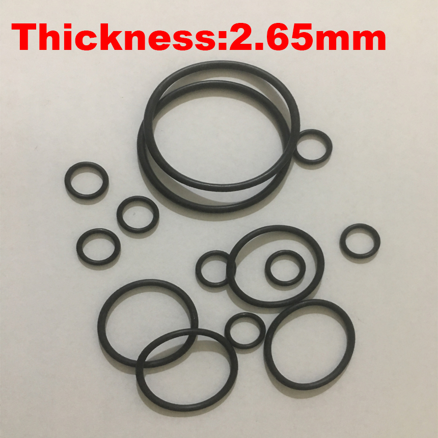200pcs 18x2.65 18*2.65 19x2.65 19*2.65 ID*Thickness Black NBR Nitrile Chemigum Rubber O-Ring Washer Oil Seal O Ring Gasket200pcs 18x2.65 18*2.65 19x2.65 19*2.65 ID*Thickness Black NBR Nitrile Chemigum Rubber O-Ring Washer Oil Seal O Ring Gasket