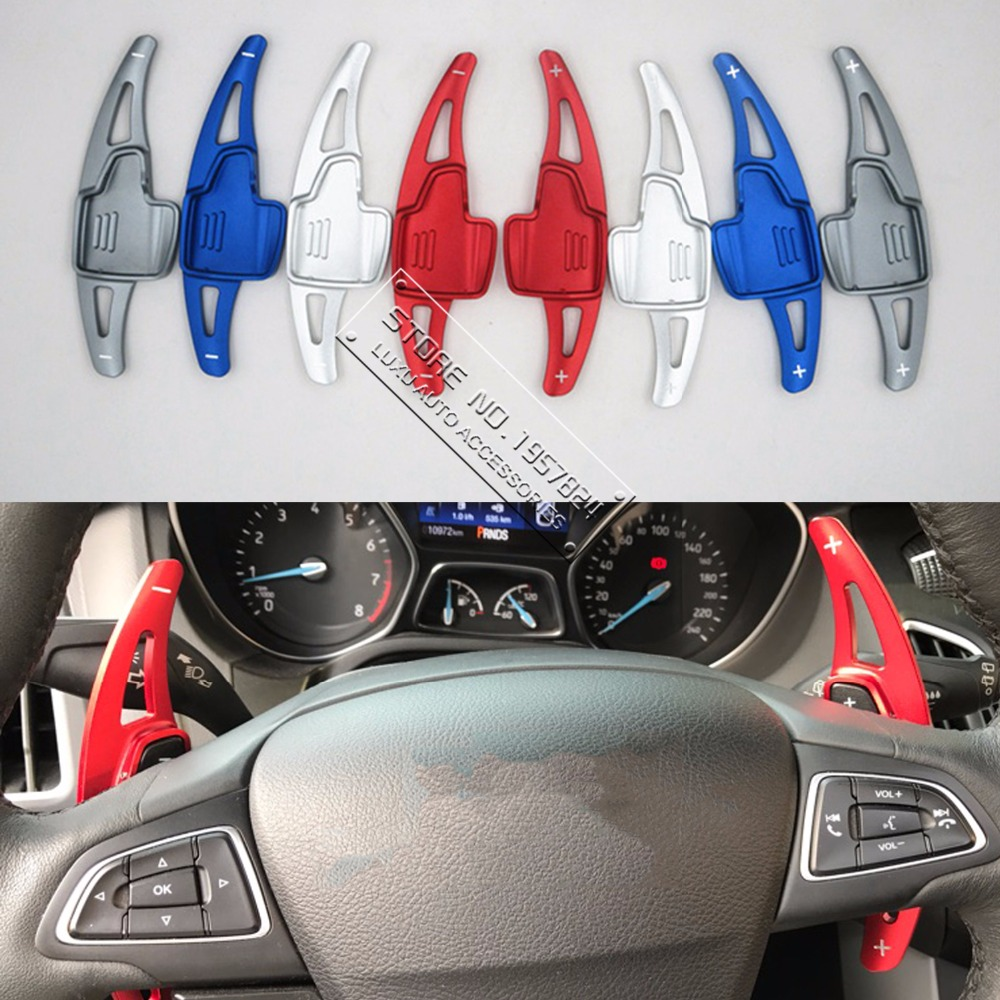 TTCR II Aluminium steering wheel DSG paddle shifters for Ford Focus 2015 2017 Ford kuga 2016