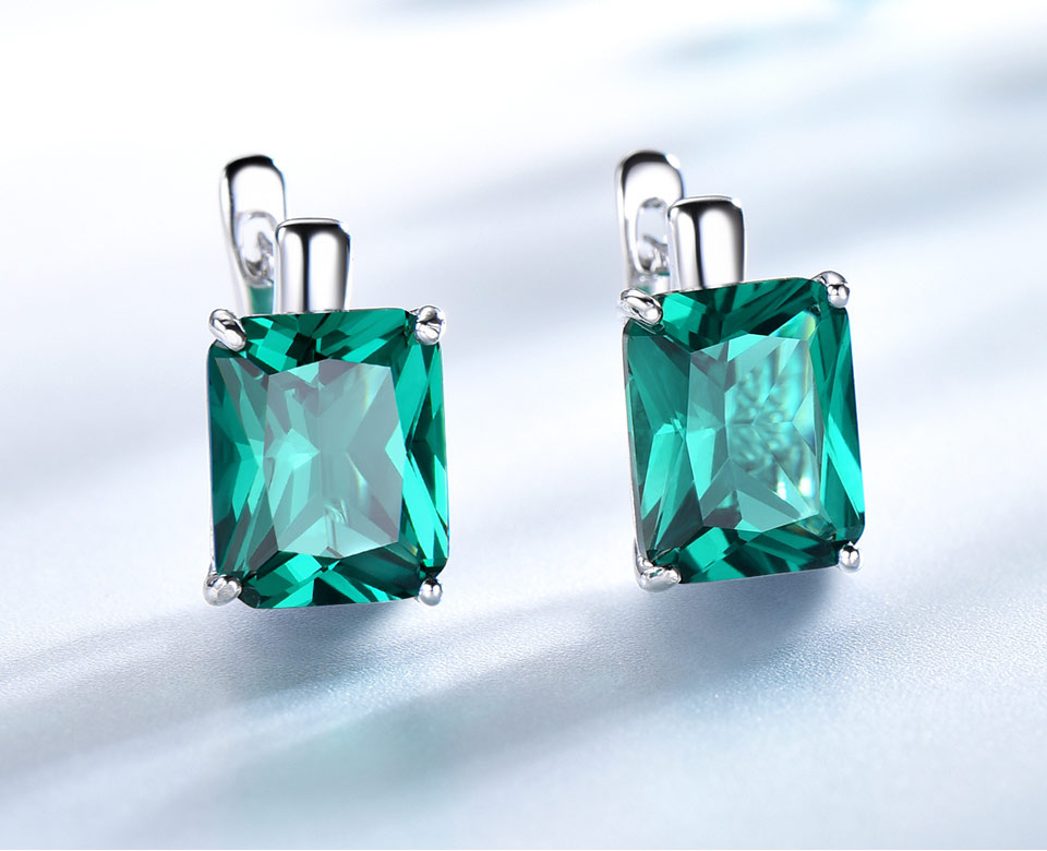 UMCHO-Emerald-925-sterling-silver-clip-earrings-for-women-EUJ083E-1-PC_03