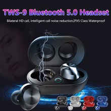 TWS-9 Wireless Bluetooth Earphone 5.0 Touch Car Earbuds Mini Binaural Fashion Sport Music High End With Charging Box