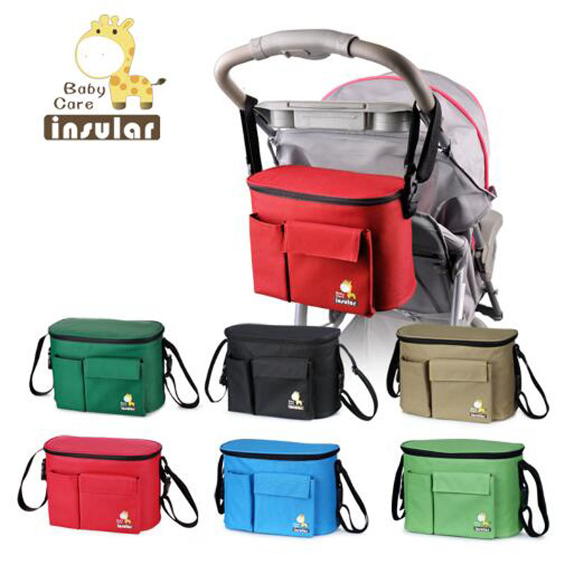 Insular high quality baby Stroller Bag Multifunctional Diaper bags Nylon Waterproof Stroller Bags Nappy Bag Free delivery