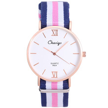 Top Brand Best Selling Elegant Simple Fashion Multicolor Nylon Strap Watch Women Fashion Casual Style Quartz Wrist watch as Gift