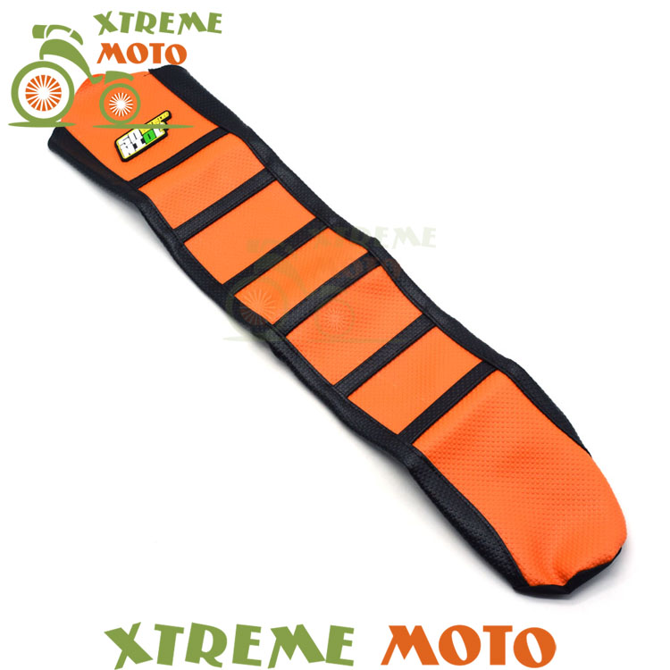 Orange Gripper Soft Seat Cover For KTM SX85 SX 85 2013 2014 2015 2016 Motorcycle Motocross Enduro Dirt Bike Off Road red gripper soft seat cover for suzuki rm125 rm250 rm 125 250 01 08 motorcycle motocross supermoto dirt bike off road enduro