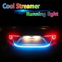 12V LED Car Braking Light Strips Tailstock Streamer Flow Lamp Belt Tail Box Side Turn Signals Rear Lights Floating RGB Led Strip