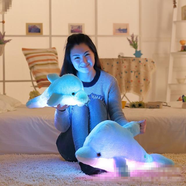 Kawaii Luminous Dolphin Pillow