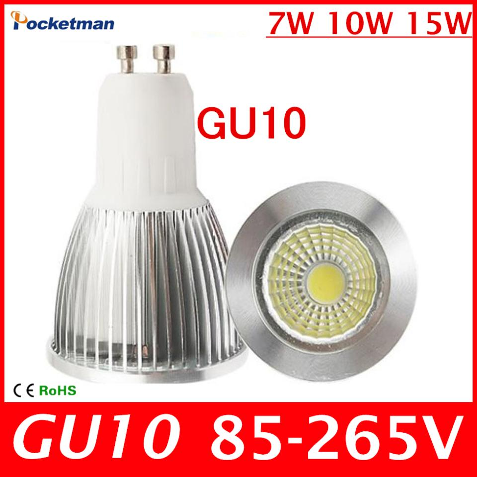 2018 new super bright gu 10 bulbs light warm white 85 265v 7w 10w 15w gu10 cob led lamp light gu. Black Bedroom Furniture Sets. Home Design Ideas