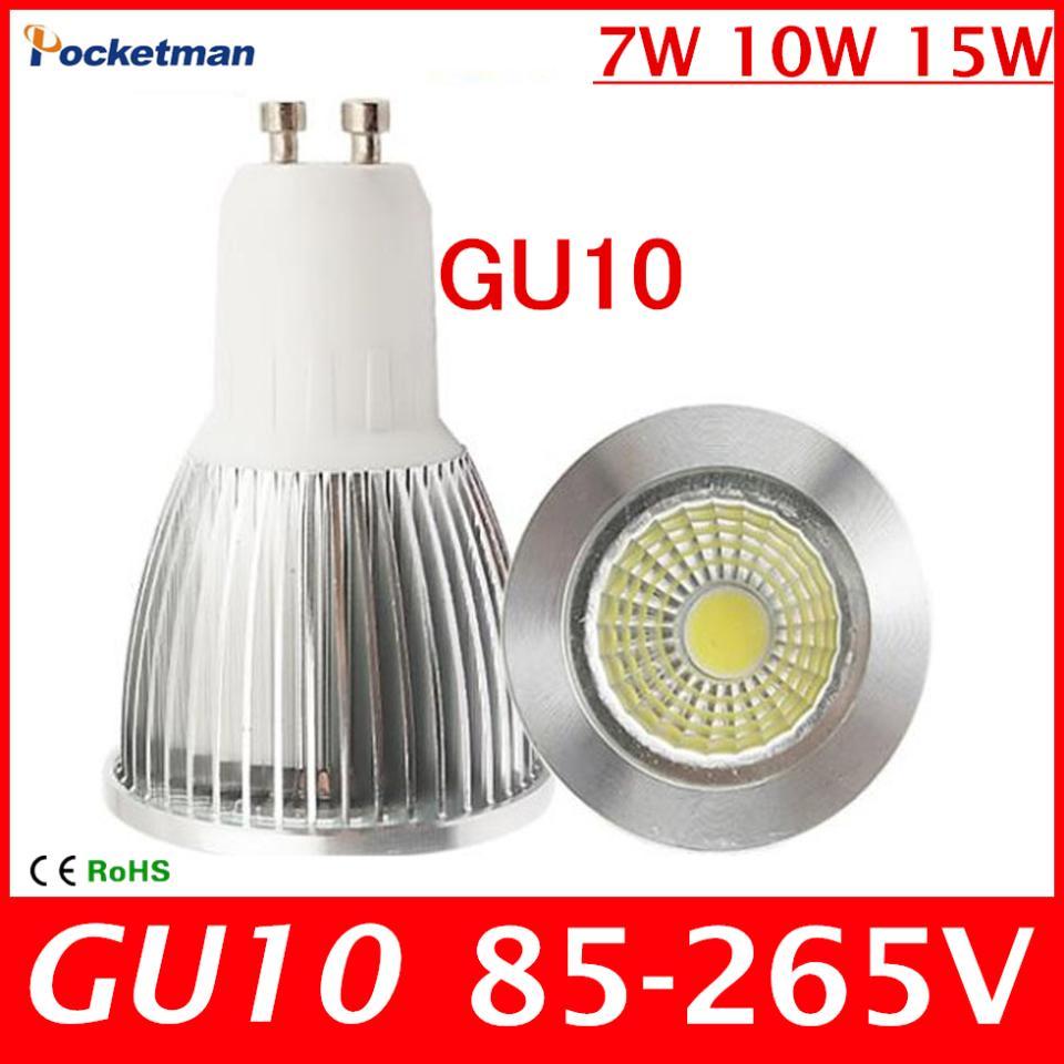 2018 new super bright gu 10 bulbs light warm white 85 265v 7w 10w 15w gu10 cob led lamp light gu. Black Bedroom Furniture Sets. Home Design Ideas