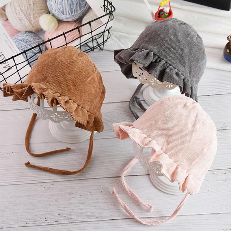 Summer Baby Sun Hat Girl Corduroy Infant Hat Autumn Children Beach Bucket Cap Children Sunscreen Fisherman Hat