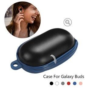 Image 3 - Silicon Abdeckung Fall für Samsung Galaxy Knospen Drahtlose Bluetooth Kopfhörer Ohrhörer Lade Box Stoßfest Protector mit Karabiner