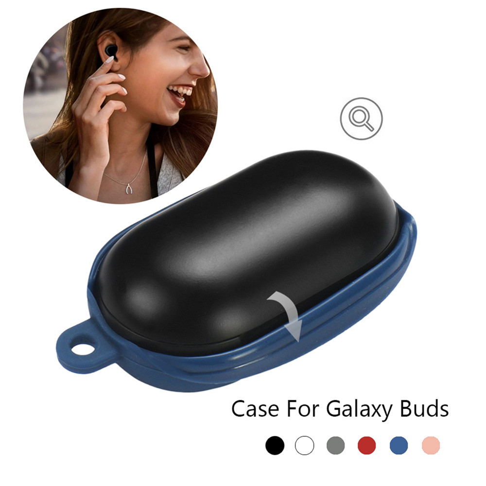 Image 3 - Silicon Cover Case for Samsung Galaxy Buds Wireless Bluetooth Earphones Earbuds Charging Box Shockproof Protector with Carabiner-in Earphone Accessories from Consumer Electronics