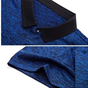 Image 5 - MIACAWOR polos de manga corta para hombre, camiseta lisa a la moda, ajustada, T748