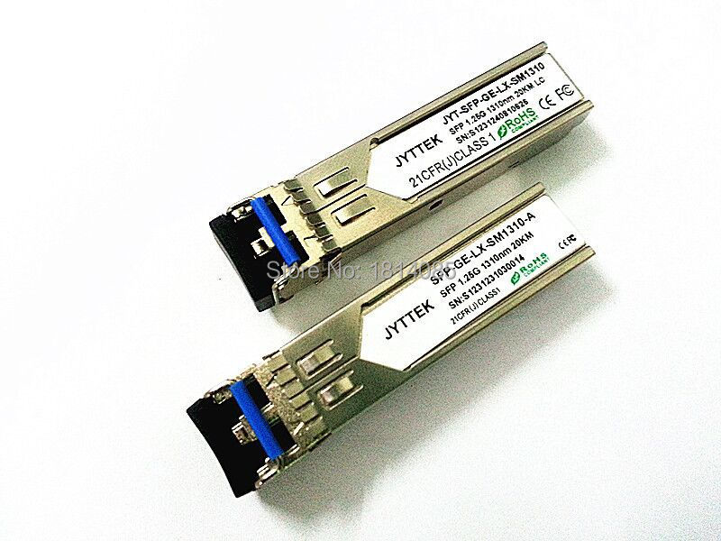 Vente chaude 2pieces / lot1.25G Module SFP Fibre Optique Module SM Duplex Fiber1310nm 20 km LC connecteur