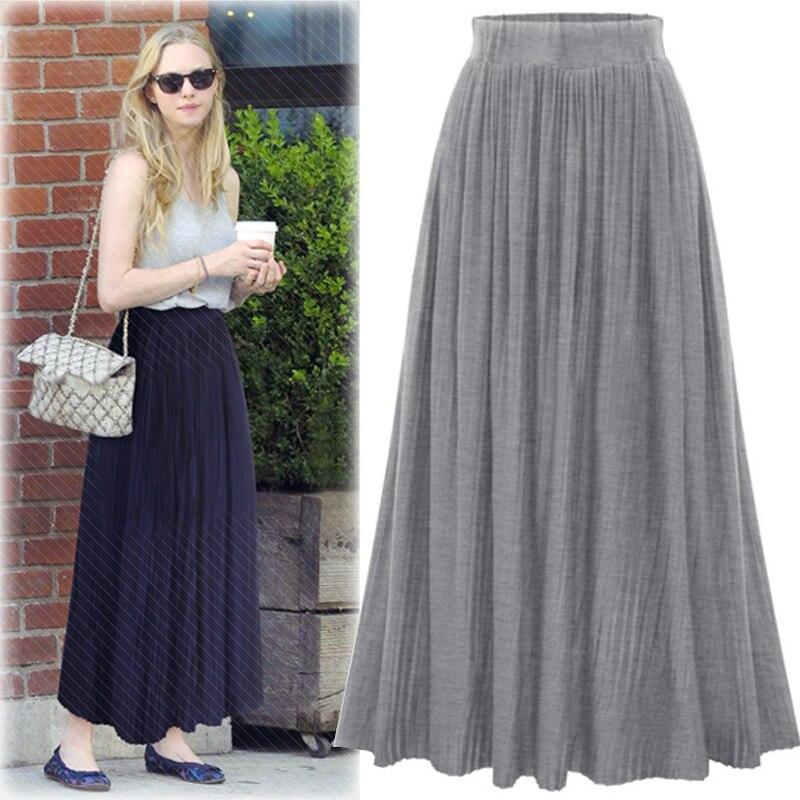 Popular Long Skirt Cotton Linen Ankle Length-Buy Cheap Long Skirt ...