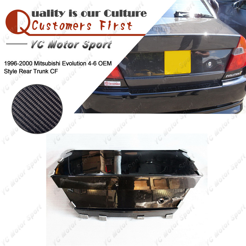 Car Accessories Carbon Fiber OEM Style Rear Trunk Bootlid Fit For 1996-2000 Evolution 4-6 EVO 4 5 6 Rear Boot Lid Tail Cover