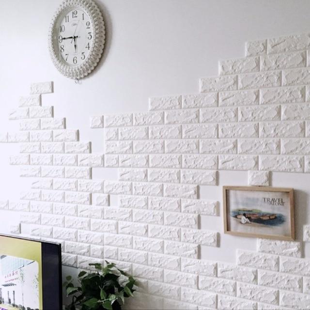 3d brick wall panel waterproof brick wall sticker diy pe foam 3d decorative