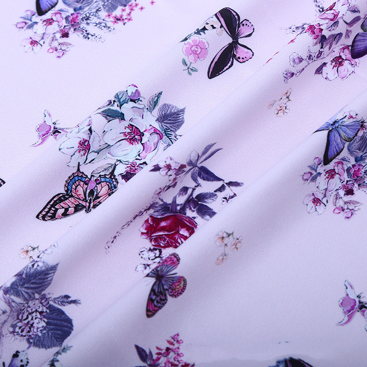 2019 New Arrival Wholesale 1 meter lot Summer Soft Silk Chiffon Fabric Butterfly for Making Women Dress Width 160cm Hot Sell in Fabric from Home Garden