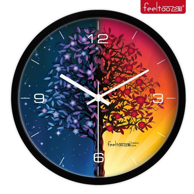 Creative Student Bedroom Living Room Decorative Clock Quartz Modern Fashion Day And Night Watch