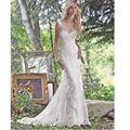 Vestido De Noiva 2017 Custom Made Mermaid Wedding Gown Detachable Train Sleeveless Bride Gown Wedding Dress