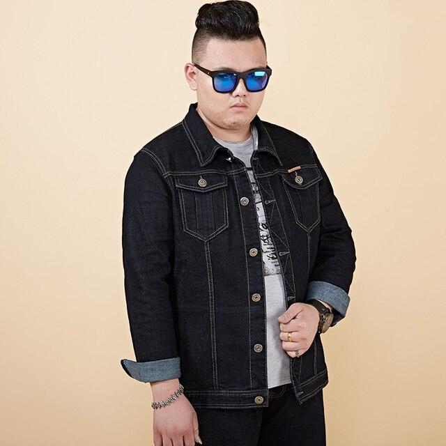 Spring 2018 New Black Denim Jacket Men Bomber Jacket Slim Fit