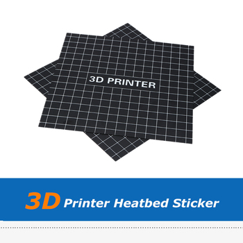 2pcs/lot 300*300mm Black Heat Bed Sticker Hotbed Platform Sheet For A6 A8 E12 Wanhao i3 CR10 Ender 3D Printer Accessory image