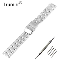 20mm 22mm Stainless Steel Watch Band For Hamilton Watchband Safety Buckle Strap Replacement Wrist Belt Bracelet