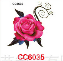 Mini Body Art Waterproof Temporary Tattoos For Women Individuality Flower Design Flash Tattoo Sticker CC6035