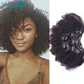 Afro Kinky Curly Grampo Em Extensões Do Cabelo Humano Indiano Virgem 7A Cabelo Africano Americano Clipe Ins Tecer Para As Mulheres Negras