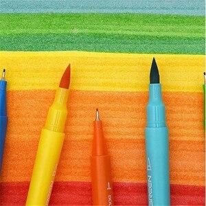 Image 3 - Youpin KACO 36 цветов, акварельные ручки с двойным наконечником, маркеры для рисования граффити, набор для рисования, двойная ручка с кисточкой, нетоксичный безопасный #