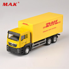 Diecast Truck 1:64 Scale Express DHL Truck Model Yellow Container Transporter Kids Toys Collection Gift(China)