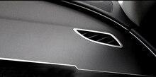 Внутренний верхний AC вентиляционное отверстие розетки Рамки крышка Нержавеющаясталь Matt из 2 предметов левым для Audi A6 C7 2012- 2017
