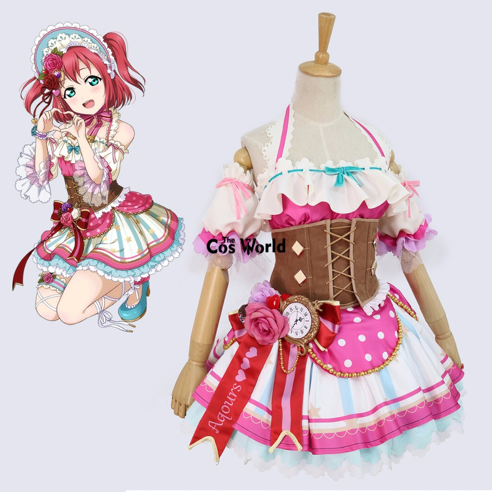 LoveLive! Soleil!! Aqours Chocolat du Jour de Valentine Kurosawa Ruby Maid Robe Uniforme Outfit Anime Cosplay Costumes