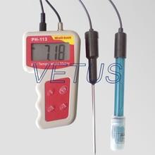 Cheapest prices PH-113 0.00~14.00PH ph meter price with temperature