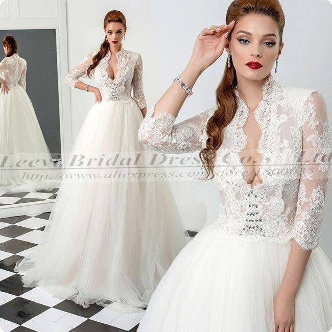 Elegant Long Sleeve Wedding Dresses Muslim Dress 2015: Sexy Pnina Tornai Wedding Dress China Tulle Elegant Long