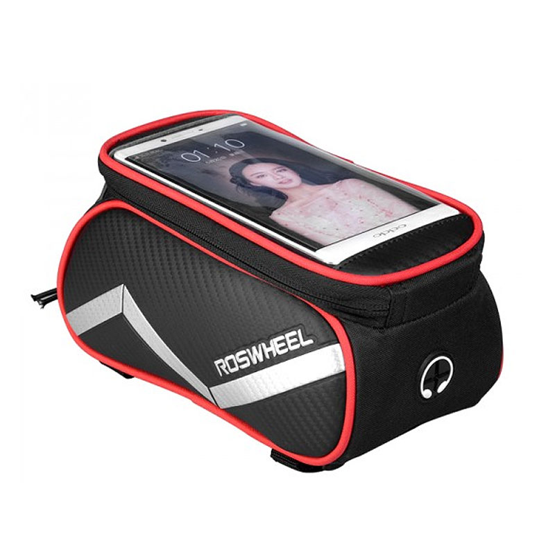 ROSWHEEL Bicycle Smart Phone Bag 6.2 inch Touch Screen Extra Large MTB Road Bike Cycling Pannier Top Frame Basket Pouch D12496