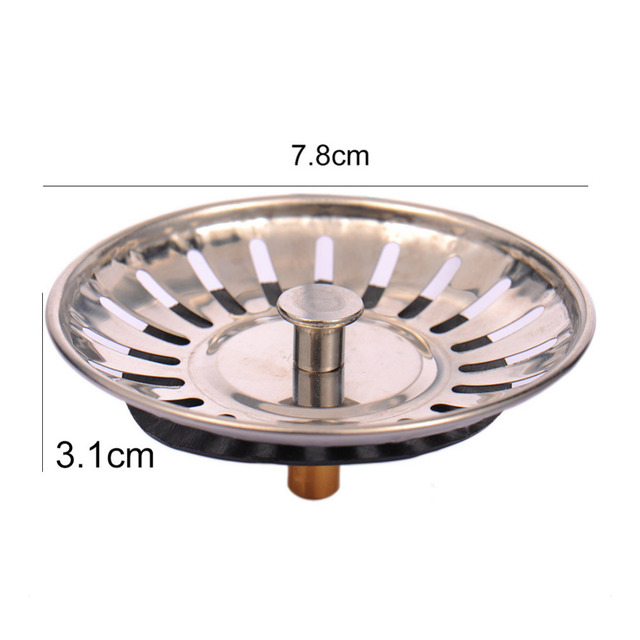 High Quality Stainless Steel Kitchen sink Strainer Stopper Waste ...