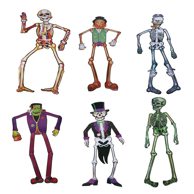 halloween hanging decorations 140cm funny dancing skeleton zombie cardboard props movable joints hanging toys party decorations - Dancing Halloween