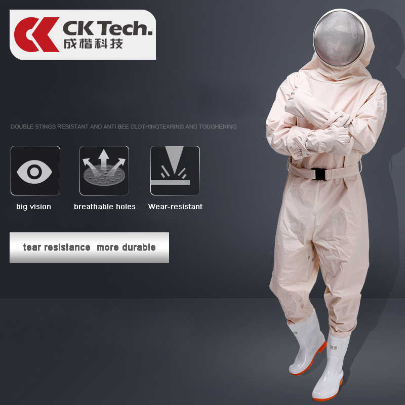 CK Tech. Beekeeping Suit for Bee Keeper Professional Equipment Protective Beehive Breathable Clothes Anti Bee Clothing